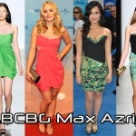 In Kristen Bell's Closet - BCBG Max Azria Trapunto One Shoulder Dress