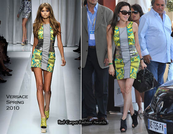 Michelle Yeoh Arrives In Cannes Wearing Versace - Red Carpet Fashion ... 7ddca7d4d0f02
