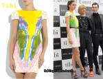 In Olivia Palermo's Closet - Tibi Watercolor Silk Dress
