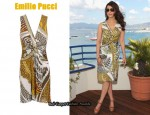 In Aishwarya Rai's Closet - Emilio Pucci Print Dress & Christian Louboutin Almeria 120 Wedge Sandals