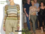 In Rihanna's Closet - Alexander Wang Striped Iridescent Sweater