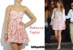 In Taylor Swift's Closet - Rebecca Taylor Strapless Floral-Print Dress