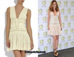 In Leighton Meester's Closet - Herve Leger Textured Patchwork Mini Dress