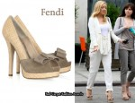 In Kate Hudson's Closet - Fendi Raffia and Suede Pumps