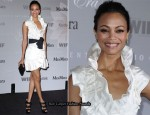 2010 Women In Film Crystal Lucy Awards - Zoe Saldana In MaxMara