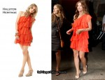 In Audrina Patridge's Closet - Halston Heritage Orange Tiered Dress