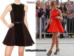In Cheryl Cole's Closet - Versus Dress & Christian Louboutin Bikini 140 Pony Pumps