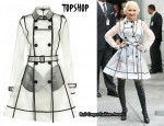 In Christina Aguilera's Closet - Topshop Clear PU Trench Coat