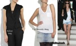 In Cheryl Cole's Closet - Helmut Lang Vest & T by Alexander Wang Tank