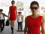 Victoria Beckham At LAX In Goat