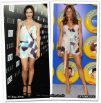 Who Wore Armani Exchange Better? Katharine McPhee or Kelly Bensimon