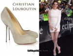 In Kirsten Stewart's Closet - Christian Louboutin Big Lips 120 Suede Pumps