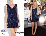 In Marisa Miller's Closet - Anna Sui Sequined Tulle Mini Dress