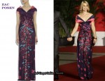 In Claire Danes' Closet - Zac Posen Floral-Print Silk Gown