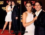 """Knight and Day"" Seville Premiere – Katie Holmes In Azzedine Alaia"