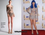 2010 MTV Movie Awards - Katy Perry In Zuhair Murad & Herve Leger