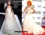 2010 BET Awards - Nikki Minaj In Rochas by Olivier Theyskens