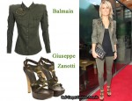 In Alex Curran's Closet - Balmain Embellished Military Shirt & Giuseppe Zanotti Camouflage Platforms