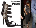 In Beyonce Knowles' Closet - Giuseppe Zanotti 'Olivy' Leather Sandals
