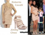 In Sharlely Kerssenberg Becker's Closet - Roberto Cavalli Dress & Jimmy Choo Aston Leather Sandals