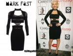 In Christina Aguilera's Closet - Mark Fast Pearl Neckline Knit Dress