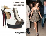 In Cheryl Cole's Closet - Christian Louboutin Volnay 140 Python Sandals