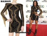 In Ciara's Closet - Balmain Brocade Dress & Balmain Boots