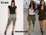In Kourtney Kardashian's Closet - Blank Cargo Pocketed Pants