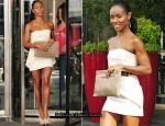 "Enroute To ""Late Night with Jimmy Fallon"" - Jada Pinkett-Smith In Fendi"