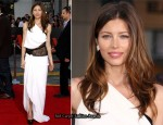 """The A-Team"" LA Premiere - Jessica Biel In Emilio Pucci"