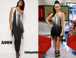 In Katy Perry's Closet - ASOS Longline Fringed One Shoulder Top