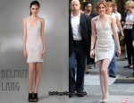 In Kristen Stewart's Closet - Helmut Lang Mesh Cut-Out Tank Dress