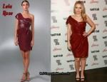 In Kristen Bell's Closet - Lela Rose One Shoulder Drape Dress