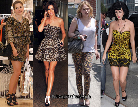 Celebrities Love Leopard Print Red Carpet Fashion Awards