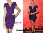 In Emma Bunton's Closet - Alexander McQueen Purple Angular-Shouldered Dress