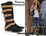 In Miley Cyrus' Closet - Vivienne Westwood Suede Pirate Boots