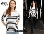 In Miranda Cosgrove's Closet - Alice + Olivia Samantha Sequin Stripe Tee