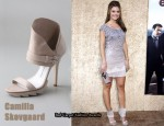In Maria Menounos' Closet - Alice + Olivia Dress & Camilla Skovgaard Collar Sandals