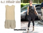 In Rachel Bilson's Closet - 3.1 Phillip Lim Lace Playsuit and Rag & Bone Victoria Wedge Sandals