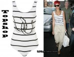 In Rihanna's Closet - Topshop Stripey Horse Shoe Body & Topshop Hareems