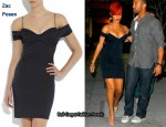In Rihanna's Closet - Zac Posen Leopard Print Jacquard Dress