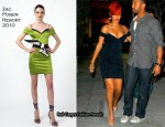 Runway To Maestro's Steakhouse - Rihanna In Zac Posen