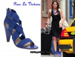 In Roxy Olin's Closet - Pour La Victoire Caitlin Elastic Strappy Heels