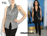 In Salma Hayek's Closet - YSL Leather Backless Vest
