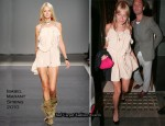 Runway To Ivy Restaurant - Sienna Miller In Isabel Marant