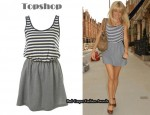 In Sienna Miller's Closet - Topshop Denim Stripe Dress