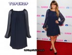 In Rachel Stevens' Closet - Topshop Sheer Long Sleeve Dress