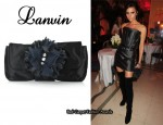 In Victoria Beckham's Closet - Lanvin Oulala Satin Clutch