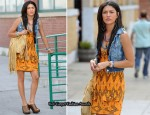 On The Gossip Girl Set With Jessica Szohr In Nanette Lepore