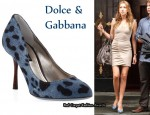 In Katie Cassidy's Closet - Dolce & Gabbana Leopard Print Denim Pumps